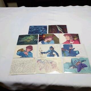 ジブリ(ジブリ)の「アニメージュとジブリ展」展示作品のセル画等のデザインポストカード11点(その他)