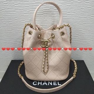CHANEL - CHANEL CCチェーンdrawstring 2way巾着bag