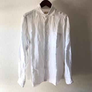 ルイジボレッリ(LUIGI BORRELLI)のルイジボレッリ ヘリンボーン編 リネンシャツ(シャツ)