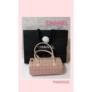 CHANEL - CHANEL シャネル 筒型ハンドバッグ プラスチック パズル ピンク 希少