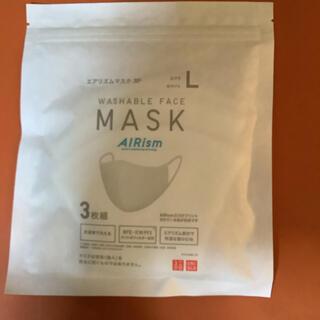 UNIQLO - ユニクロ エアリズム マスク 3枚組 ホワイト Lサイズ