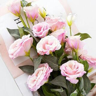 キキョウ花倣真花偽花束リビングテーブル花飾り花芸飾りプラスチックテレビキャビネ(ドライフラワー)