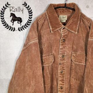 エルエルビーン(L.L.Bean)のB101 エルエルビーン/コーデュロイシャツ/ブラウン/ヴィンテージ/OLD/(シャツ)