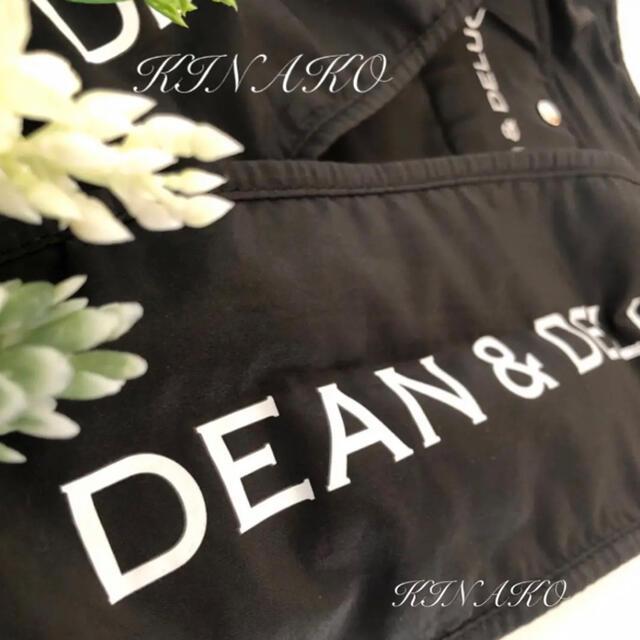 DEAN & DELUCA(ディーンアンドデルーカ)のDEAN&DELUCA エコバッグ 黒 ☆ディーンアンドデルーカ☆トートバッグ レディースのバッグ(エコバッグ)の商品写真