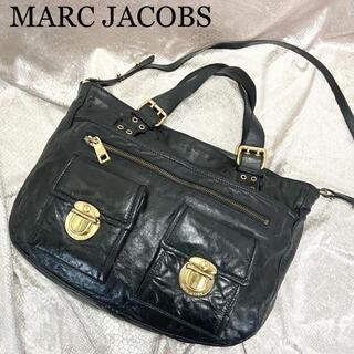 マークジェイコブス(MARC JACOBS)の☆マークジェイコブス☆2way ハンドバッグ ショルダーバッグ 黒 ブラック(ハンドバッグ)