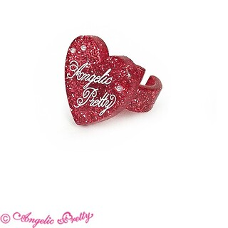 Angelic Pretty - Angelic Pretty Deco Heart リング 赤