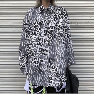 2020年秋物新作☆☆ ゼブラ柄シャツ オーバーサイズ 原宿 韓国 派手(シャツ/ブラウス(長袖/七分))