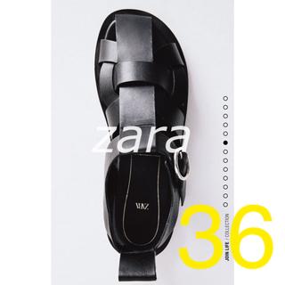 ZARA - ZARA レザーフラットサンダル 36