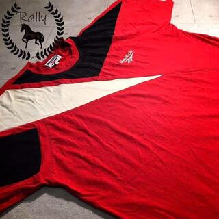 B231 古着/リーボック/半袖/Tシャツ/切替/刺繍/ロゴ/80s/90s/(Tシャツ/カットソー(半袖/袖なし))