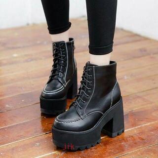 ディース 靴 厚底 シューズ パンクファッション 原宿系 ショートブーツ レディ