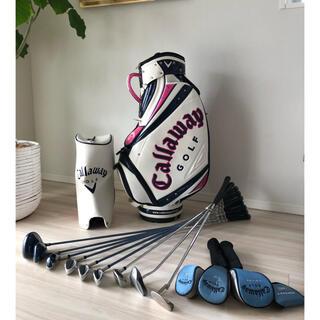 Callaway Golf - 【中古】キャロウェイ  キャディバッグ&ゴルフクラブセット レディース 初心者用