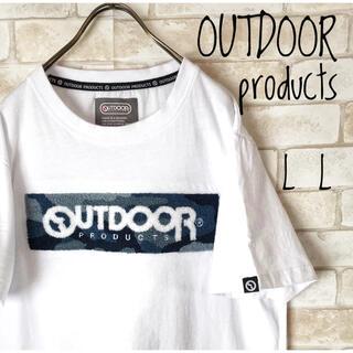 アウトドアプロダクツ(OUTDOOR PRODUCTS)の古着アウトドアプロダクツ 白デカロゴTシャツ L L(Tシャツ/カットソー(半袖/袖なし))