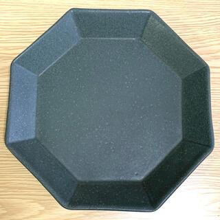 よしざわ窯 チャコール  八角8寸皿 器 食器