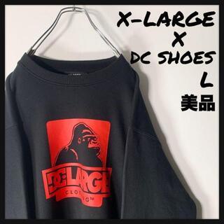 XLARGE - 【極美品 DCシューズ コラボ】エクストララージ スリーブロゴ スウェット.