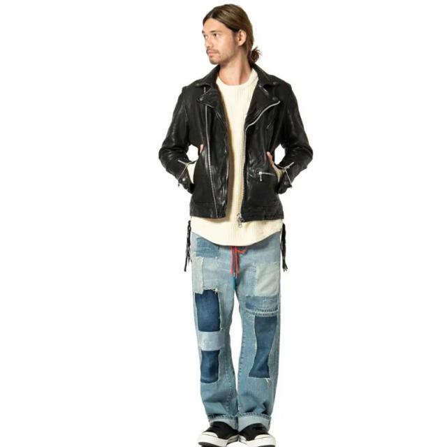 glamb(グラム)のglamb 新品未使用 ガゼットダブルライダースsize3 メンズのジャケット/アウター(ライダースジャケット)の商品写真