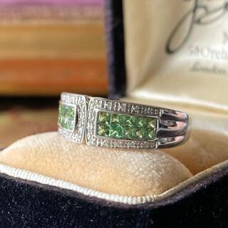天然グロッシュラーライトガーネット 天然ダイヤモンド ソーティング付き