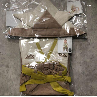 スリーコインズ(3COINS)の新品未使用 3coins こどもの日 袴セット かぶと スリコ(和服/着物)