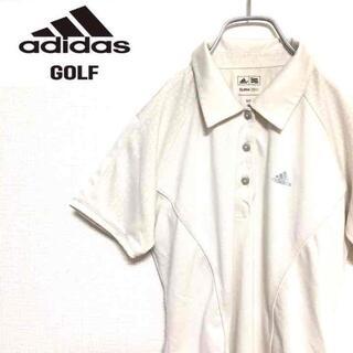 アディダス(adidas)の○adidas GOLF○ 国内古着 半袖 ゴルフウェア ホワイト レディース(ポロシャツ)
