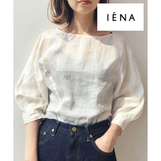 IENA - 人気【IENA】19SS ラミードルマンブラウス リネン ホワイト