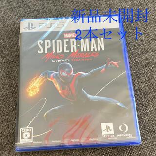 プレイステーション(PlayStation)の新品未開封2本セット PS5 スパイダーマンマイルズモラレス (家庭用ゲームソフト)
