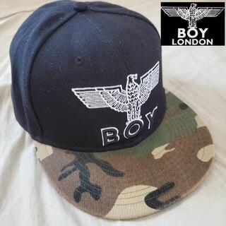 ボーイロンドン(Boy London)のBOY LONDON キャップ スナップバック ブラック 迷彩 ボーイロンドン(キャップ)