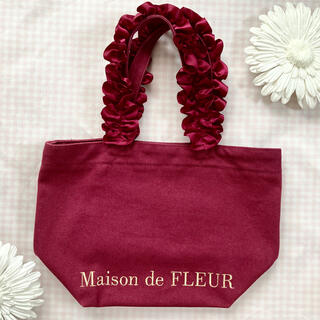 Maison de FLEUR - メゾンドフルール 帆布フリルハンドルトート S