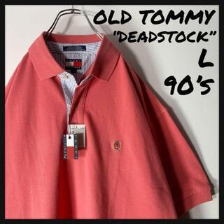 【デッドストック L 90s】オールド トミー ワンポイント 刺繍ロゴ ポロ