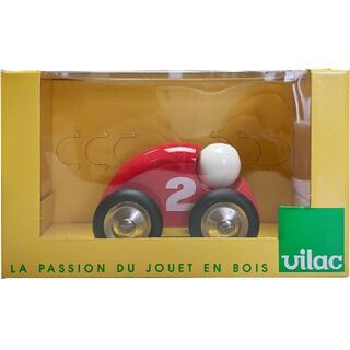 ヴィラック(vilac)のフランス木製玩具 Vilac (ヴィラック) ミニレーシングカー(赤)(電車のおもちゃ/車)