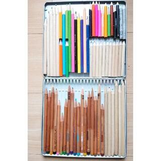トンボエンピツ(トンボ鉛筆)のトンボ 色鉛筆 木物語 24色 リサイクル色鉛筆 缶ケース+多数おまけ付き!(色鉛筆)