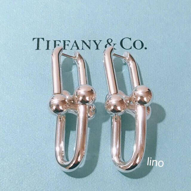 Tiffany & Co.(ティファニー)の美品 ティファニー Tiffany HARDWEAR リンクピアス Tチェーン レディースのアクセサリー(ピアス)の商品写真