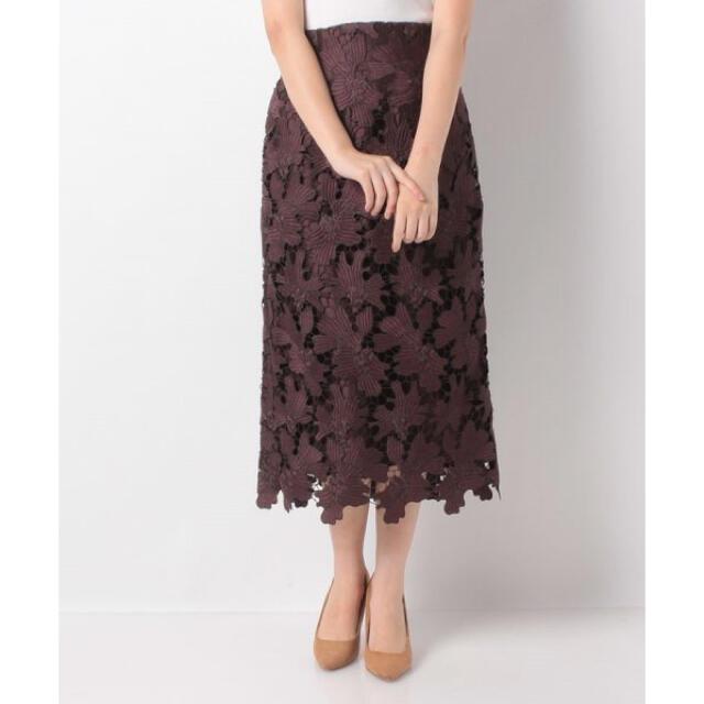 Mystrada(マイストラーダ)のマイストラーダ 配色レースタイトスカート レディースのスカート(ロングスカート)の商品写真