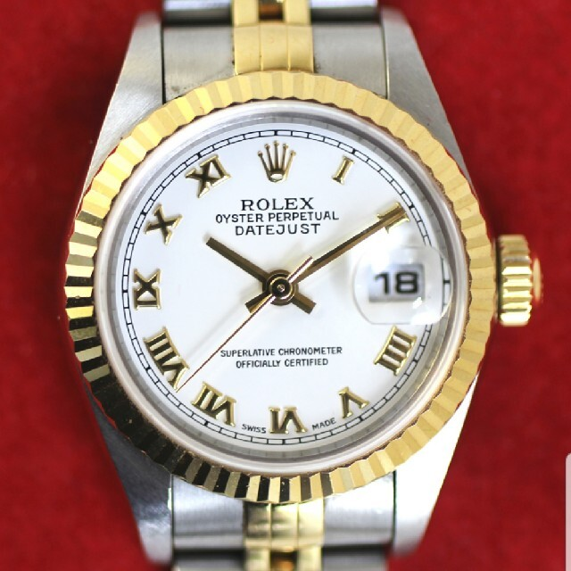 ROLEX(ロレックス)の【ROLEX】デイトジャストK18YG×SS A番自動巻き ローマンインデックス メンズの時計(腕時計(アナログ))の商品写真