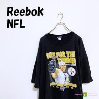 リーボック(Reebok)のX-444 Reebok NFL リーボック Tシャツ 半袖 プリント 黒(Tシャツ/カットソー(半袖/袖なし))