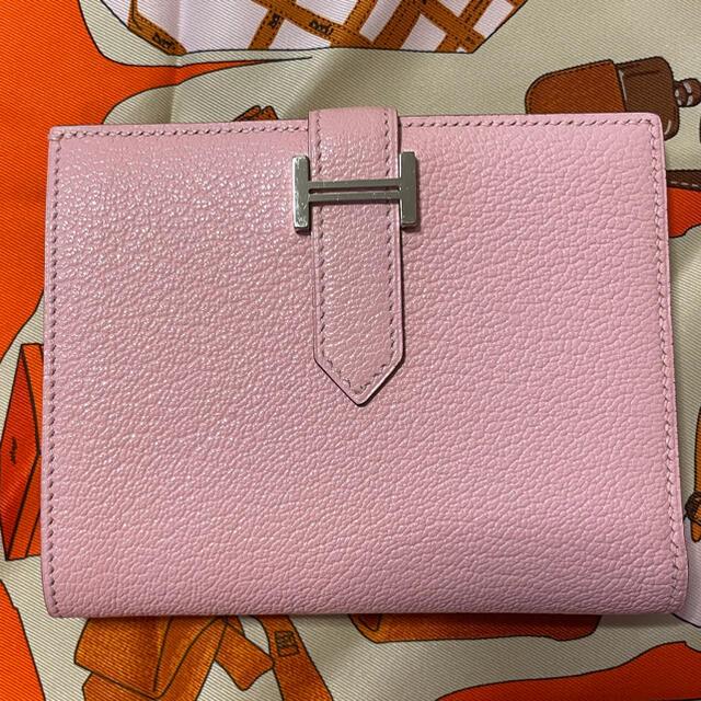Hermes(エルメス)の【ご専用です】べアンコンパクト☆ローズサクラ レディースのファッション小物(財布)の商品写真
