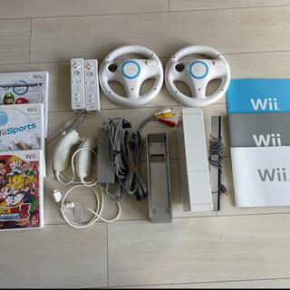 Wii - Wii 本体 マリオカート ハンドル 他ソフト