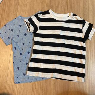 UNIQLO - 【美品】ユニクロ クルーネックTシャツ 2枚 100cm