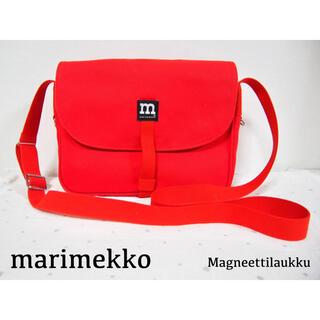 marimekko - 【美品】マリメッコ 定番 赤 ショルダーバッグ marimekko レッド