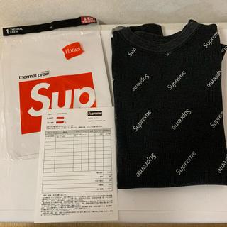Supreme - 【即完売】 シュプリーム × ヘインズ ロゴ総柄 ロンT 黒色 Sサイズ 美品!