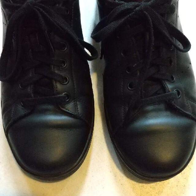 adidas(アディダス)のadidas アディダス スタンスミス ブラック レザー 27.5cm メンズの靴/シューズ(スニーカー)の商品写真