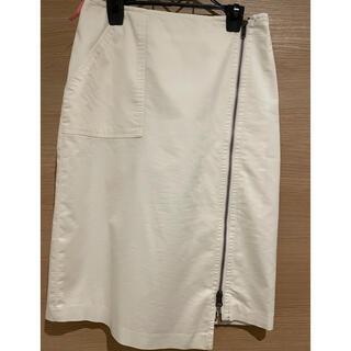 ミッシェルクラン(MICHEL KLEIN)のジッパースリット ひざ丈スカート(ひざ丈スカート)
