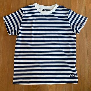 ヘリーハンセン(HELLY HANSEN)のヘリーハンセン ボーダーTシャツ 140 白 紺 速乾(Tシャツ/カットソー)