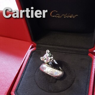 Cartier - Cartier パンテール ラカルダ エメラルド オニキス WGリング