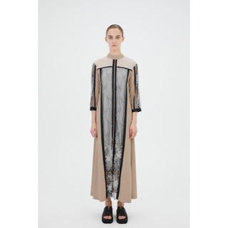 mame - MURRAL Framed flower dress (Beige)サイズ2
