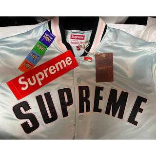 Supreme - Supreme Varsity Jacket Light Blue Lサイズ