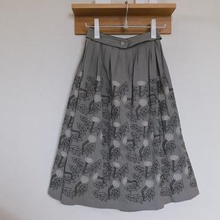 mina perhonen - ミナペルホネン  スカート  刺繍 タンポポ tanpopo グレー 38