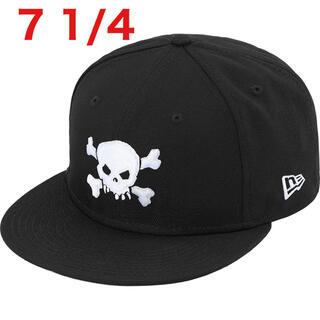 Supreme - 【7-1/4 】New Era supreme  Skull  ブラック