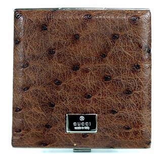 グッチ(Gucci)のGUCCI グッチ ロゴプレート コンパクトミラー ブラウン 17-351(ミラー)