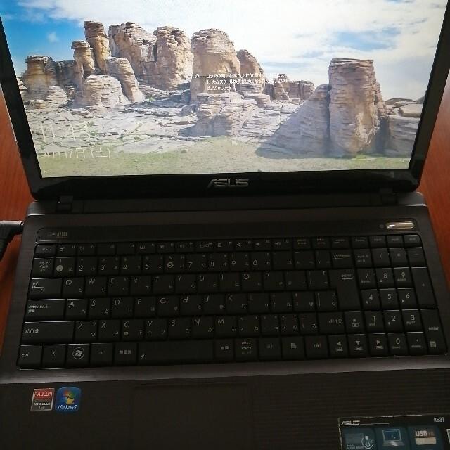 ASUS(エイスース)のノートパソコン ASUS k53tasx0a6 スマホ/家電/カメラのPC/タブレット(ノートPC)の商品写真