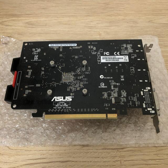 ASUS(エイスース)のASUS グラフィックボード AMD Radeon HD 6670 スマホ/家電/カメラのPC/タブレット(PCパーツ)の商品写真