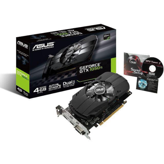 ASUS(エイスース)のAUSU GEFORCE GTX1050ti スマホ/家電/カメラのPC/タブレット(PCパーツ)の商品写真